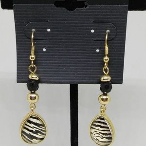 Drop Dangle Earrings Gold-plated Animal Print 1286